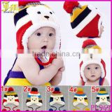 New Cute Fashion Warm Cap Winter Animal Hats For Baby Earflaps Velvet Thickening Crochet Knitted Boy Girl Beanie Children Hat