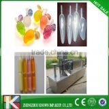 fruity jelly juice in plastic soft bag filling and sealing packaging machinery