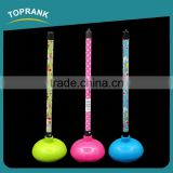 Toprank New Design Printed Colored Plastic Plunger Pongtu Toilet Strong Suck Pump Rubber Toilet Plunger