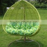 PE Rattan Hanging Chair With Stand Outdoor Egg Swing Chair
