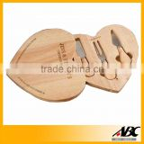 Novelty Style Heart Shape Wood Cheese Cutting Board