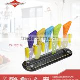 5 pcs colorful wholesale cheese knives set for kitchen gadget 2015