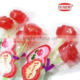 Long Stick Lollipop Halal Sweet Gift Red Hard Rose Candy