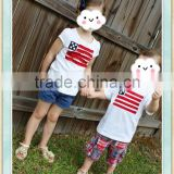 4th of July shirts baby clothes t shirt wholesale china brother sister family matching clothing