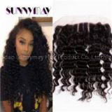 Cheap Indian Remy Hair Lace Frontal Closure Sunnymay 13*4Deep Wave Full Lace Frontals With Three 3 Part Bleached Knots Baby Hair