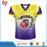 Dye sublimation printed American football jersey wholesale youth football uniforms custom jerseys american football wear