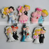 personalized custom soft PVC the groom and bride shaped fridge magnet for promotion wedding favor gifts