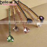 Eourpean fashion heart shape colors rhinestone hair pins