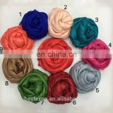 wholesale new fashion long shawl woman satin hair silk yarn hijab scarf