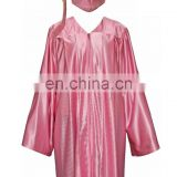 Pink Shiny Adult Graduation Caps and Gowns