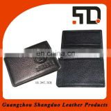 Realiable Quality Genuine Leather Wire Holder for Business Card