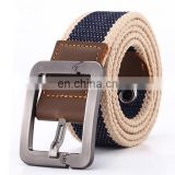 BT0634 HOT 2018 wholesale Top Solid brand Belt for Men Cinto men's Fashion Pin Buckle Canvas cowboy knitted Strap Casual Stripe
