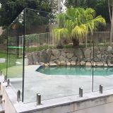 316 Mirror Satin Frameless Pool Fence Glass Spigot