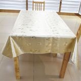Luxurious GOLD plated with 100% cotton back table linen,soft textile with 137cm*20m/roll
