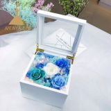 Preserved Flowers Music Box Flower Gift for Lovers and Friends