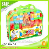 Hot toys 66 pcs construction plastic building blocks for baby