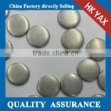 Y1230 Matte round iron on brass studs;top quality heat transfer metal studs;cheap price iron on metal studs