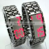 TM fashionable iron led samurai watch