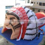 Pvc Cheap Inflatable Football Helmet Tunnel Tent