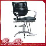 Black Color Synthetic Leather Reclined Backrest Hydraulic Barber Chair with Footrest