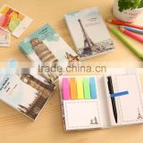 South Korea creative stationery Europe wind retro building high-speed combination hardcover factory manufacture