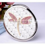 custom pattern custom logo professional desigh high quality decoration metal compact mirror