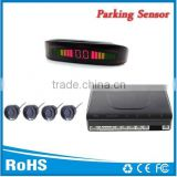 4 rear sensors Led parking sensor system Car reverse backup radar with Beeper alarm
