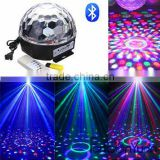 Mini Bluetooth Voice activated RGB LED Crystal Magic Ball Effect Light,MP3 Magic Ball Light with USB and Remote