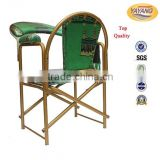 Cheaper price iron green pulpit padded stackable church muslim prayer chair in commercial furniture