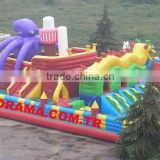 inflatable octopus bouncer, giant inflatable playground, commercial inflatable bounces