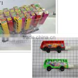 Buses equipped with toys, candy tube hot cheap sale at the school gate