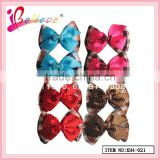 Handmade claw clip hair bow,2.2 inch mini ribbon bow baby hair accessories