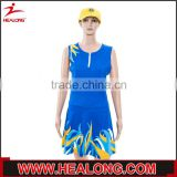 custom made lycra netball dress for sale, women's new fashional netball dress/uniforms