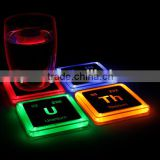 Delicate Colorful Changing LED Light Drink Glass Bottle Cup Coaster Mat Bar Party Xmas Gift For Sale