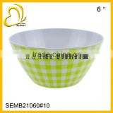 6inches melamine salad bowl with simple design printing