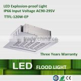 high power 120w LED explosion-proof light led lamp, for gas station, national defense constructions, CE certificate