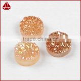 10mm Round Champagne Druzy Stones Cabochon Flat Back With A Hole From Manufacture                                                                         Quality Choice