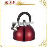 MSF-2840 Heat resistant red painting on kettle 2.5L whistling kettle with induction bottom