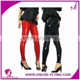 Adult Faux Leather PVC Trousers Night club Dance Slim Long Pants High Waisted Stretch Leggings