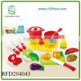19PCS Popular Kitchen Food Play Toy Cutting Fruit Vegetable With Stove Set For Children Gift