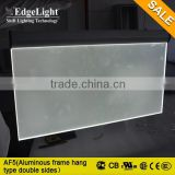 Edgelight led lightbox display board double sides visible frame, hanging frame for advertising lightbox display