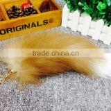 Fahion natural Color Fox Tail Keychain for bag charm