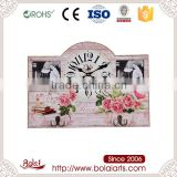 Nice appearance pink roses and picture frame mdf photo frame wall clock