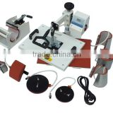Black white 5/6/8 IN 1 T-shirt/Mug/Cap/Plate Combo heat press printing machine                                                                         Quality Choice