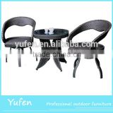 rattan dining table with aliminum leg outdoor furniture cocktail table                                                                         Quality Choice