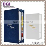 INquiry about real leather real leather menu book Hong Kong supplies provided high quality A4 size menu inserts
