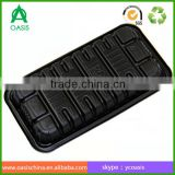 Hot sale factory price black plastic disposable packing tray for meat