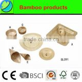 Disposable Bamboo Plate,bamboo cone,bamboo spoon and bamboo cup
