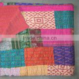 Vintage Silk Patola Saree Patchwork Indian Home Decorative Throws~Source directly from factory.