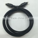 Black digital Optical Audio Toslink Cable with Nylon Mesh High Quality